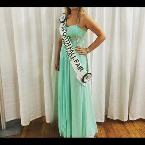 Mint formal gown worn once